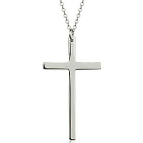 Plain cross pendant necklace
