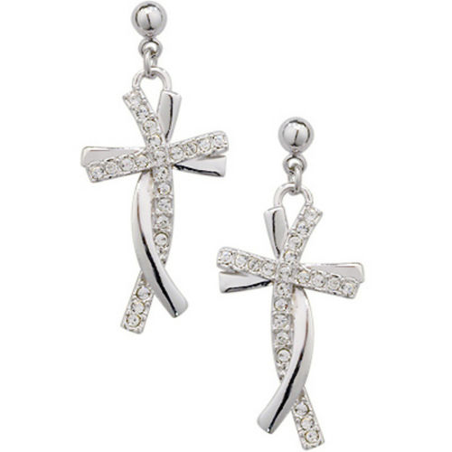 Dangly Cross Studs