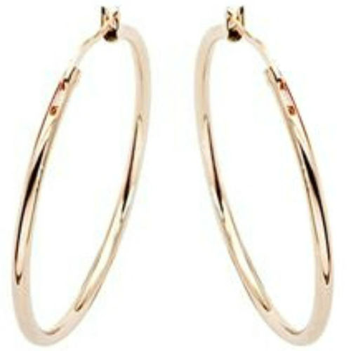 25mm/30mm rose gold finish hoop earrings