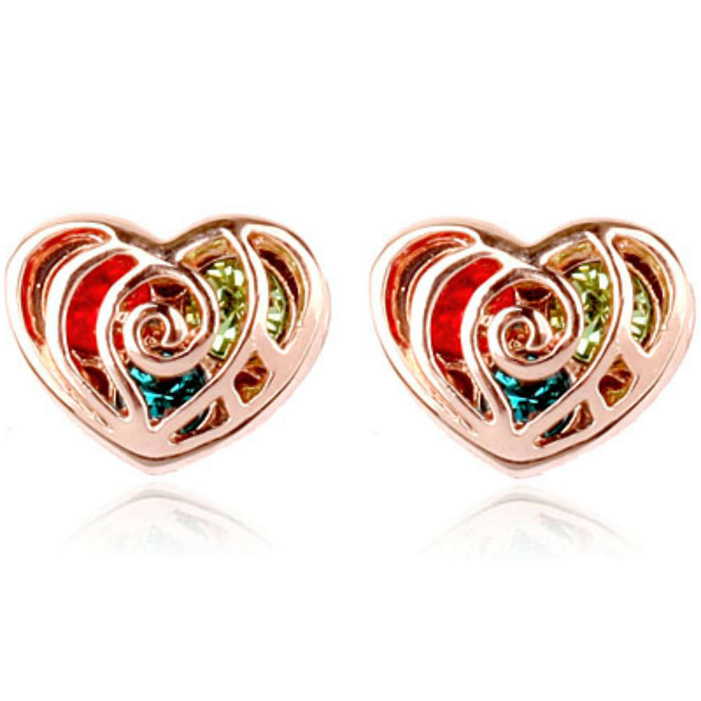stud gold uk co rose anjasmagicbox earrings ml heart colourful