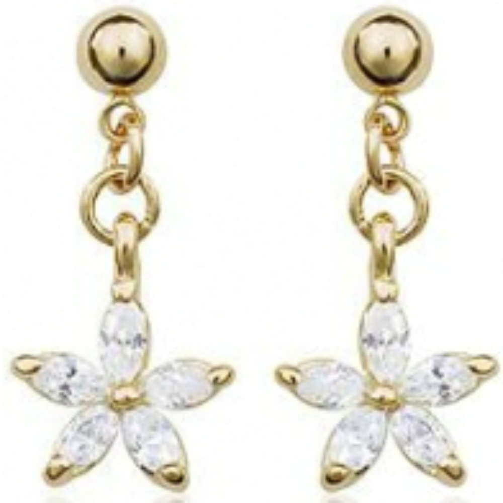 cb501b1fe Rose gold dangly clear colour star studs - www.AnjasMagicBox.co.uk