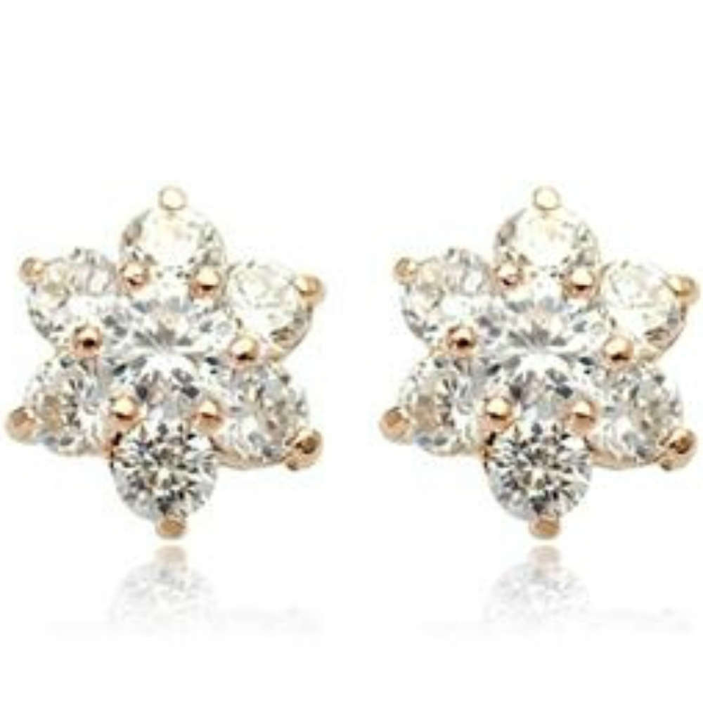 snowflake stud diamond karp earrings snow studs sparkly jewellery products flake