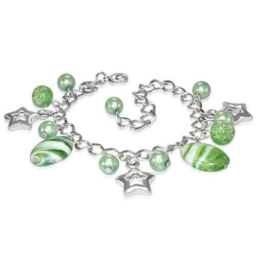 Light Green Star Charm Bracelet