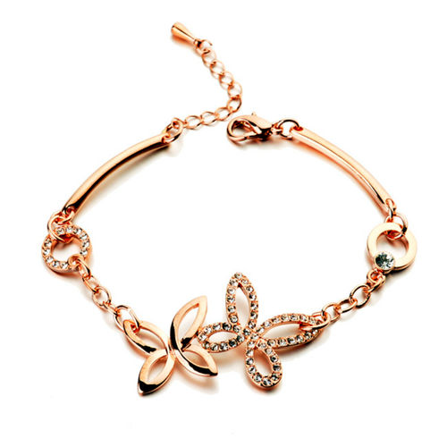 Rose Gold finish Butterfly Bracelet