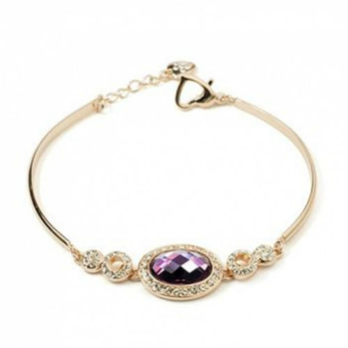 Rose Gold finish Amethyst CZ Bracelet