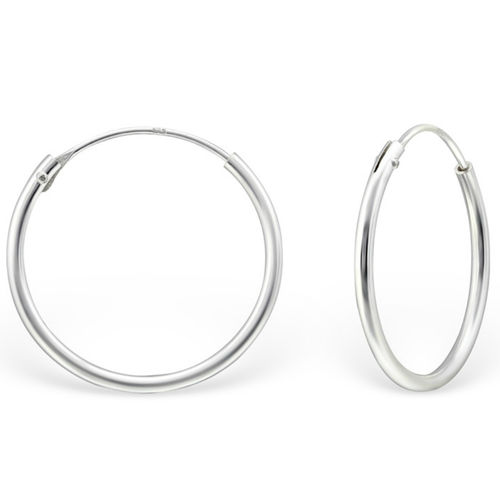 Sterling Silver 18mm Sleeper earrings