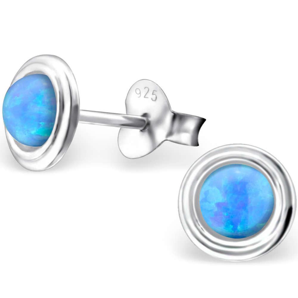 bfa49e3a733d8 925 Sterling Silver Opal stud earrings