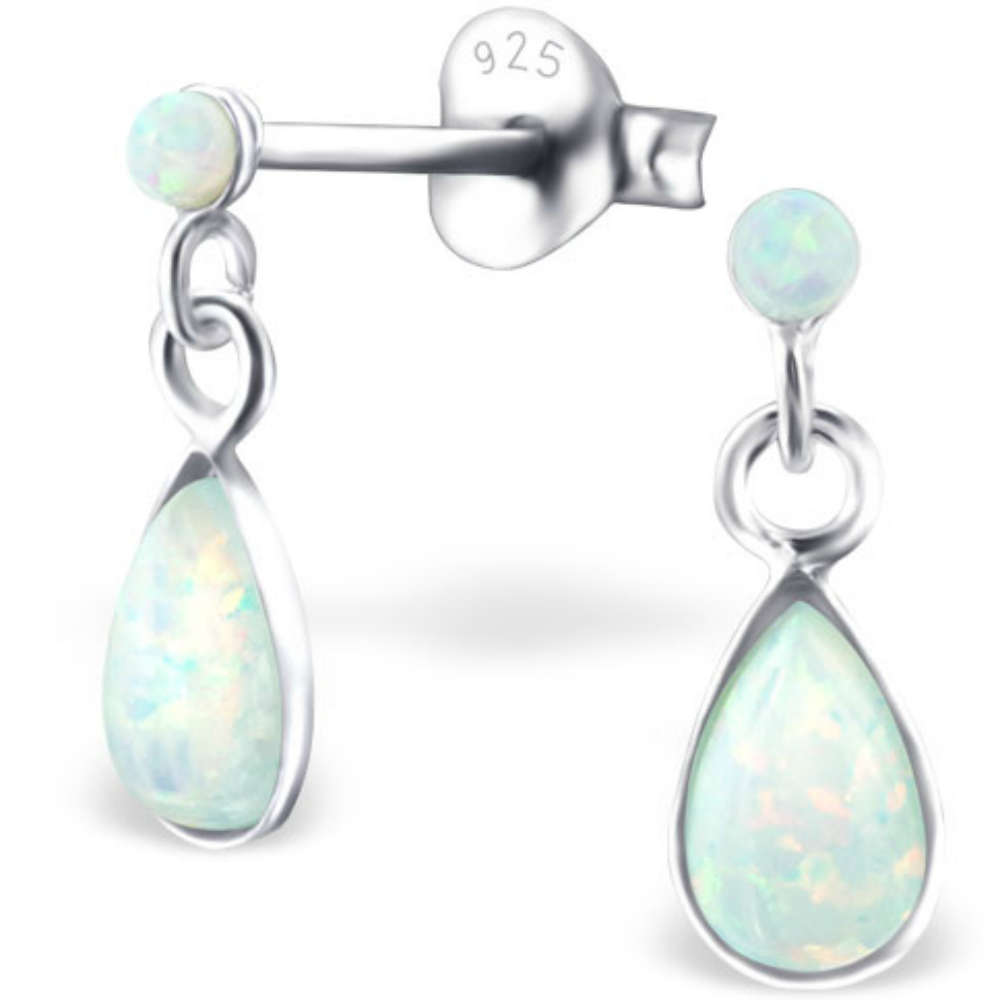 45149c1b8cbec 925 Sterling Silver Opal drop earrings