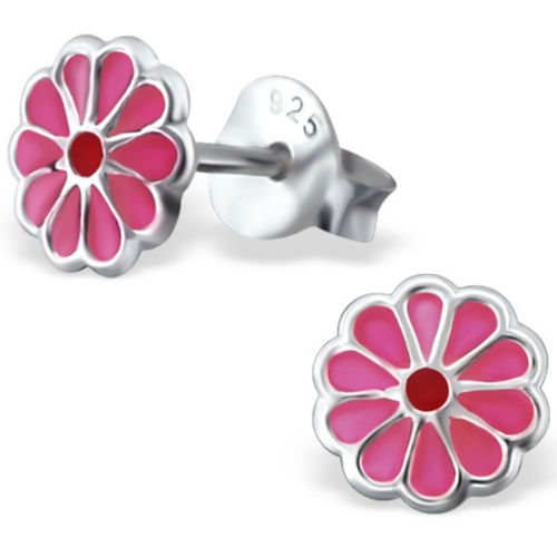 925 Sterling Silver kids flower stud earrings