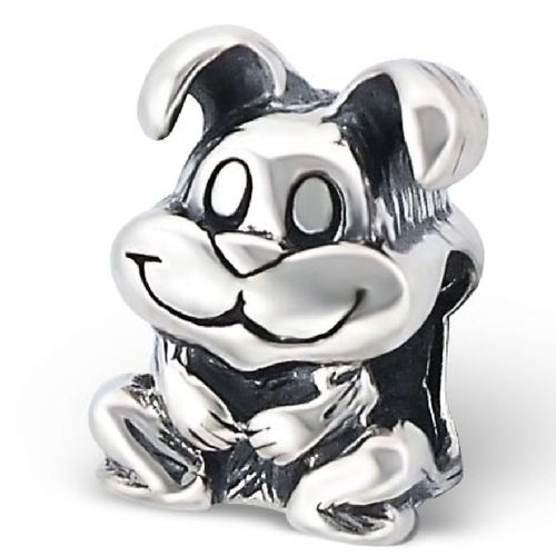 "Sterling Silver ""Bunny Rabbit"" Charm Bead"