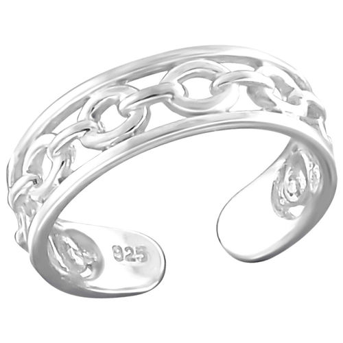 "Sterling Silver ""Chain"" Design Toe Ring"