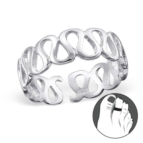 "Sterling Silver ""Wave"" Design Toe Ring"