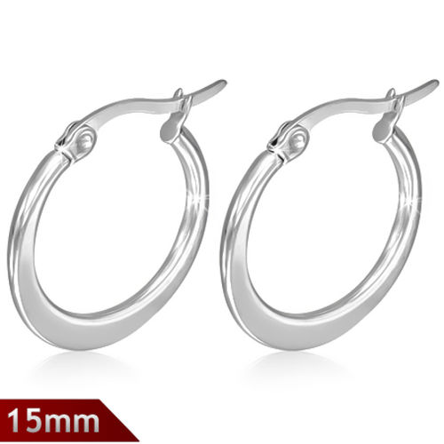 15mm Surgical Steel hoop earrings