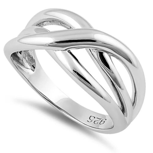 Sterling Silver Twisted Waves Ring
