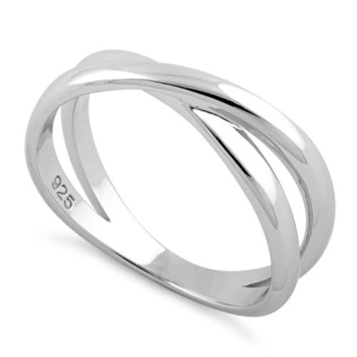 Sterling Silver X-Shape Ring