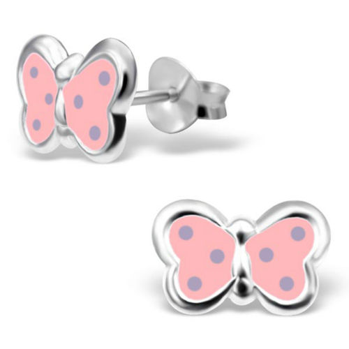 925 Sterling Silver Kids Butterfly Studs
