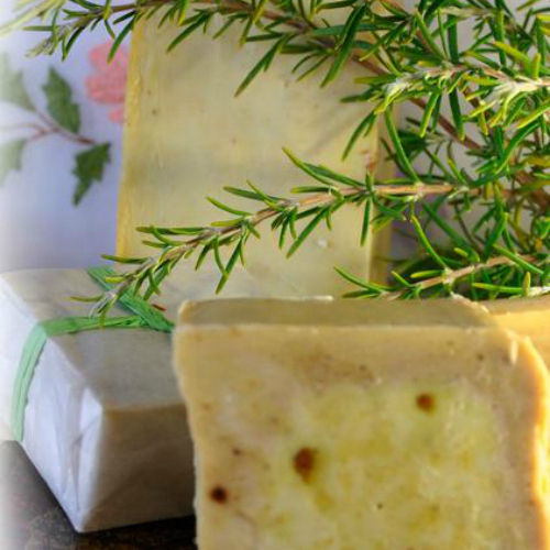 "Handmade ""Rosemary"" Soap, 90gr"