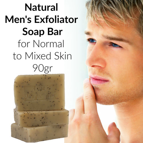 "Handmade ""Men's Exfoliator"" Soap, 60-80gr"