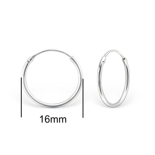 Sterling Silver 16mm Sleeper Earrings