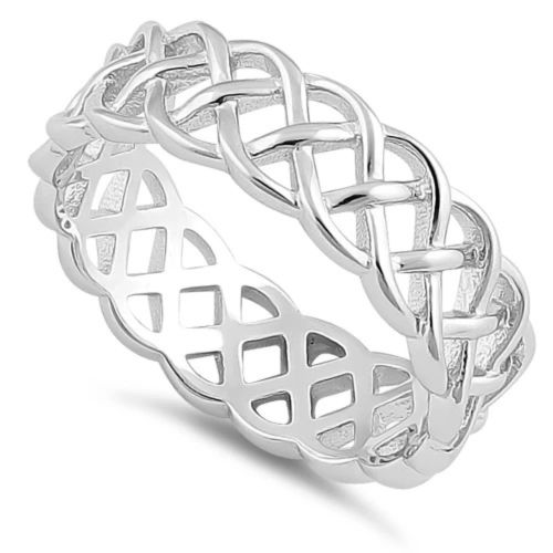 Sterling Silver Celtic Braided Band Ring